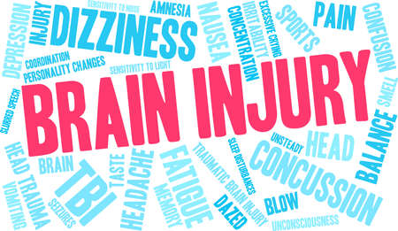 Brain Injury word cloud concept. Stok Fotoğraf - 88462790