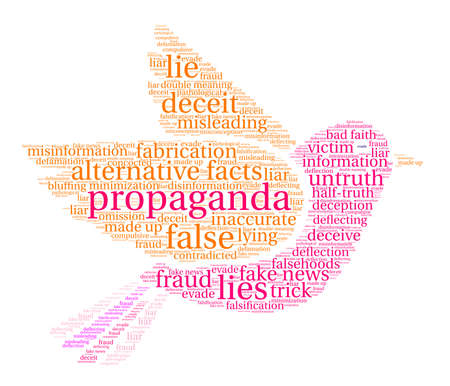 Propaganda word cloud concept. Illustration