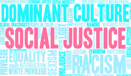 Social Justice word cloud concept.