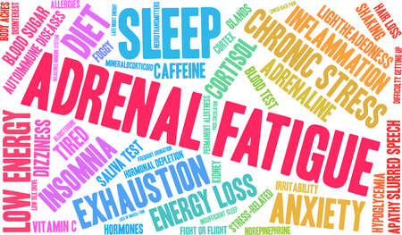 Adrenal Fatigue word cloud concept.