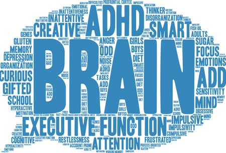 Hersenen woord wolk concept.