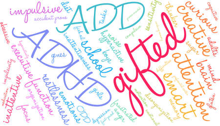 Gifted word cloud concept.