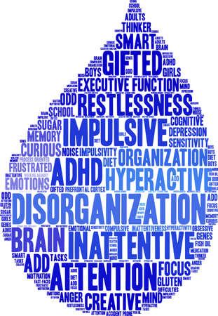 Disorganization word cloud concept.