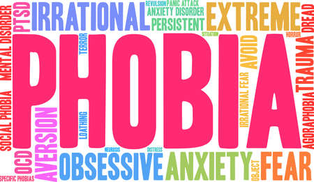 Phobia word cloud concept.