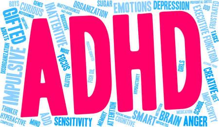 ADHD word cloud concept.