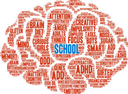 School word cloud concept. Illustration