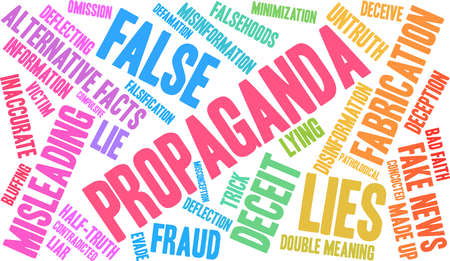 Propaganda word cloud concept. Illustration