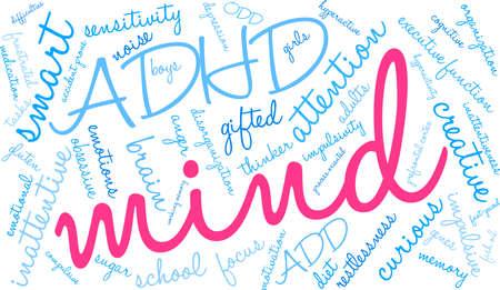 Mind word cloud concept. Çizim