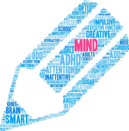 Mind word cloud concept. Illustration