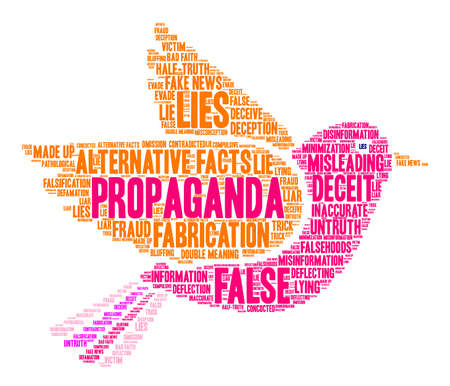 bad news: Propaganda word cloud on a white background.