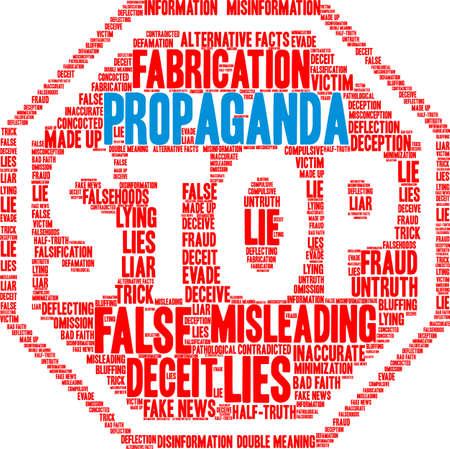 Propaganda word cloud on a white background.  Çizim
