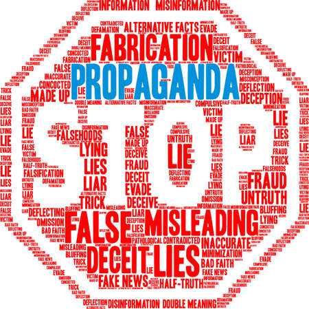 Propaganda word cloud on a white background.  Illustration