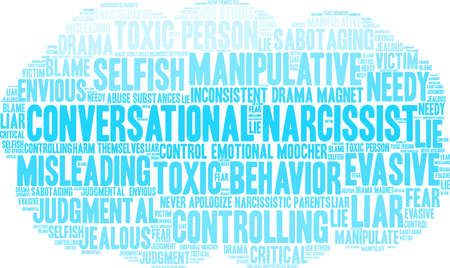 Conversational Narcissist word cloud on a white background.