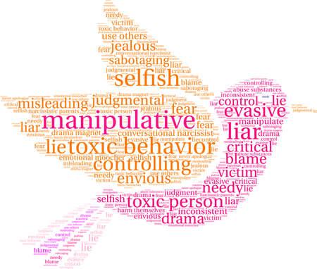 Nuage de mot manipulatoire sur un fond blanc. Banque d'images - 89964054