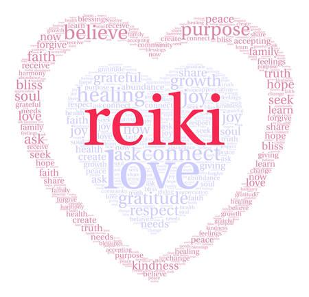 reiki nube de palabras sobre un fondo blanco .