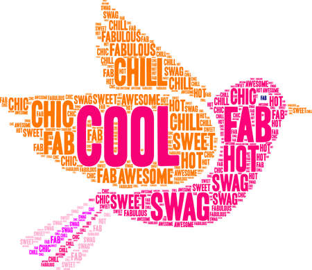 Cool word cloud on a white background.