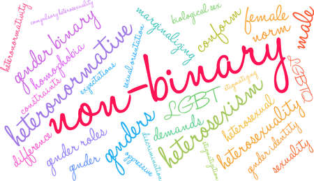 Non-Binary word cloud illustration.
