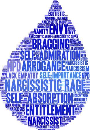 Narcisistic Rage word cloud su uno sfondo bianco. Archivio Fotografico - 91512143