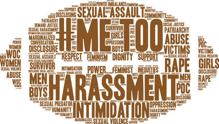 Me Too word cloud on a white background. Illustration