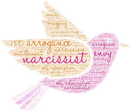 Narcisist word cloud su uno sfondo bianco. Archivio Fotografico - 91309846