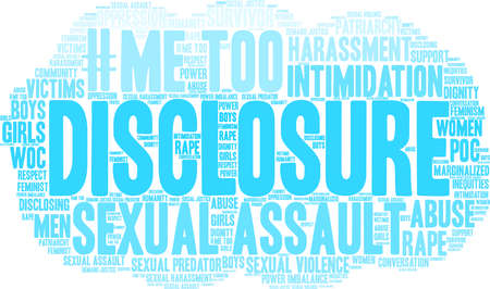 Disclosure word cloud on a white background.