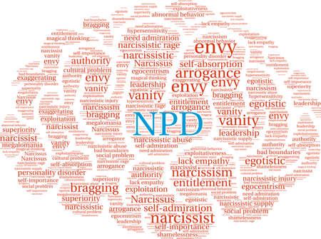 NPD-Wortwolke auf einem weißen Hintergrund. Standard-Bild - 92989853