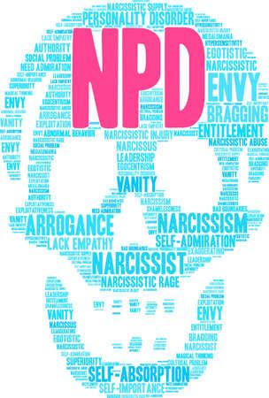 Nube di parola di NPD su uno sfondo bianco. Archivio Fotografico - 92990115