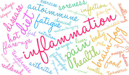 Inflammation word cloud on a white background. Standard-Bild - 92990311