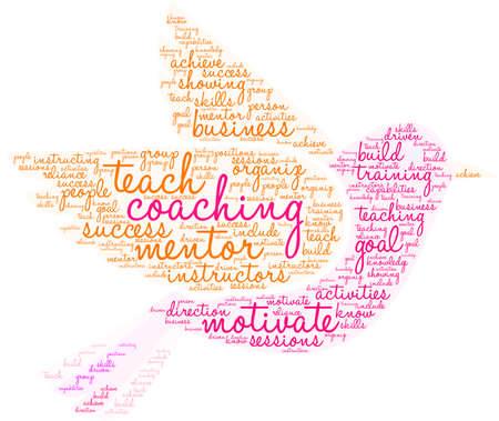 Onderwijs, coaching word cloud op een witte achtergrond. Stockfoto - 92942569