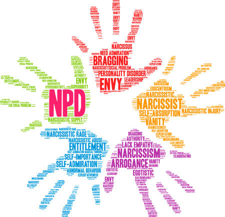 Nube di parola di NPD su uno sfondo bianco. Archivio Fotografico - 92990401