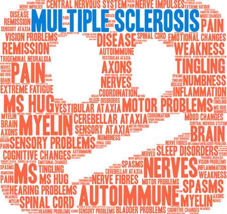De wolk van het multiple sclerosewoord op een witte achtergrond. Stockfoto - 93814691