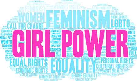 Girl Power word cloud on a white background. Stock Vector - 93814701