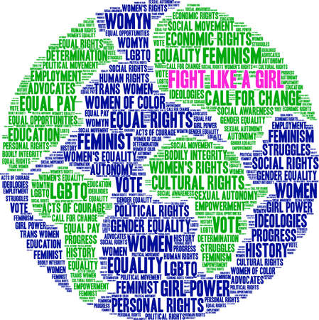 Fight Like a Girl word cloud on a white background.