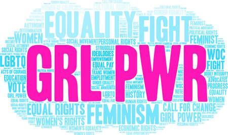 GRL PWR word cloud on a white background. Stock Vector - 93815440