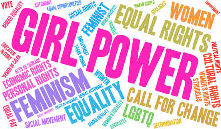 Girl power word cloud on a white background. Stock Vector - 93814910