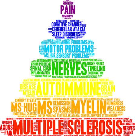 De wolk van het multiple sclerosewoord op een witte achtergrond. Stockfoto - 93815455