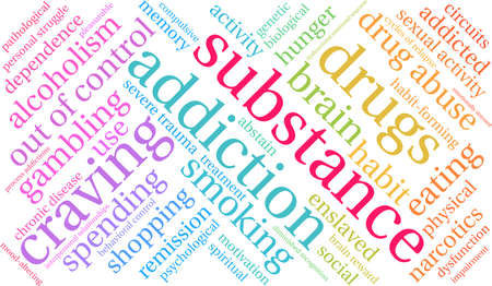 Substance word cloud on a white background.