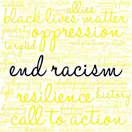 Termine a nuvem da palavra do racismo em um fundo branco. Foto de archivo - 93815853