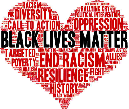 Black Lives Matter word cloud on a white background. 免版税图像 - 93815986