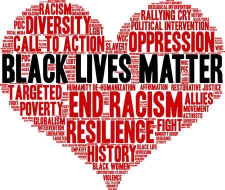 Black Lives Matter word cloud su uno sfondo bianco. Archivio Fotografico - 93815986