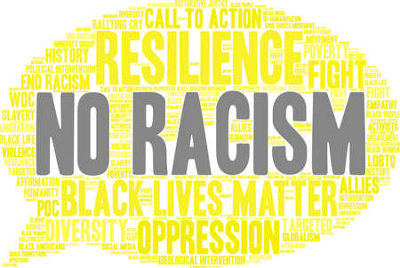 No Racism word cloud on a white background. Imagens - 93816208
