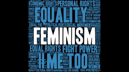 Feminism word cloud template design