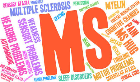 Multiple Sclerosis word cloud design