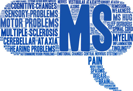 Multiple Sclerosis word cloud on a white background. Stockfoto - 95841418