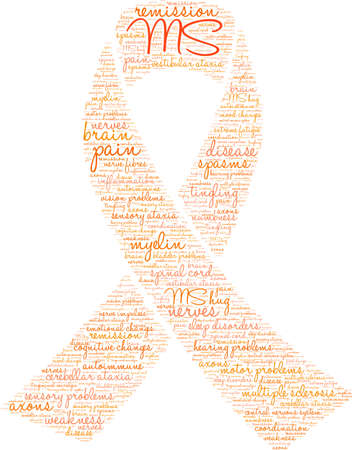 Multiple Sclerosis word cloud on a white background. 写真素材 - 95882968