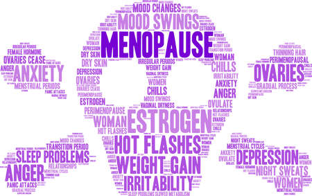 Menopauze word cloud ontwerp Stock Illustratie