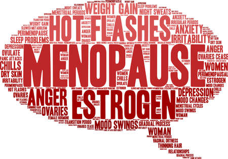 Menopause word cloud on a white background.  일러스트