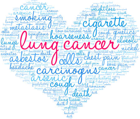 Lung Cancer word cloud on a white background. 스톡 콘텐츠 - 99113882