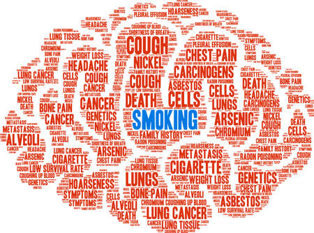Cigarette word cloud on a white background.  Иллюстрация