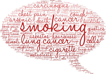 Cigarette word cloud on a white background. 스톡 콘텐츠 - 99113892